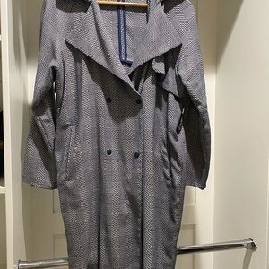 Top shop navy and white pea coat! Size 6